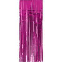 Bright Pink Party Supplies Metallic Foil Door Curtain
