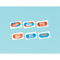 Nerf Party Supplies x 1 Perforated Sheet Containing 12 Temporary Tattoos