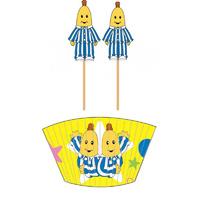 Bananas In Pyjamas Party Supplies Cupcake Wrappers/Cases with Picks 24 of Each