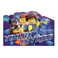 Lego Movie 2 Post Card Invitations x 8 Pack