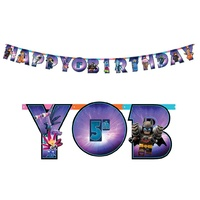Lego Movie 2 Add An Age Jumbo Happy Birthday Letter Banner Kit