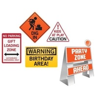 Big Dig Construction Easel Wall Decoration Sign Kit 5 Pieces