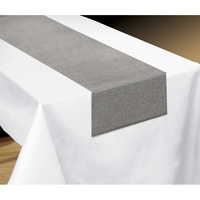Silver Metallic Look Table Runner Fabric 33cm x 182.8cm