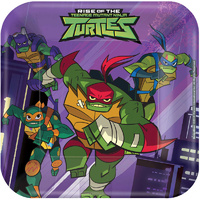Rise of the TMNT Lunch Cake Dessert Plates Paper 8 Pack