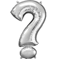 Silver Question Mark ? Foil Balloon 86cm