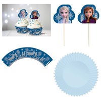 Frozen 2 Glitter Cupcake Kit for 24 Persons