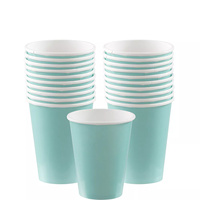 Amscan Robin's-Egg Blue Party Supplies Paper Cups 20 Pack