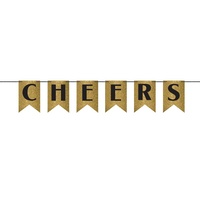 Cheers Glitter Pennant Banner New Years Eve Engagement Party