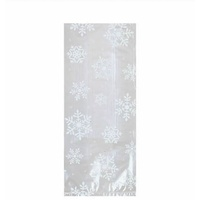 White Snowflakes Large Cello Loot Bags Clear