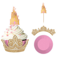 Disney Princess Once Upon A Time Glittered Cupcake Kit for 24