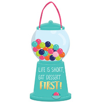 Sweets & Treats Mini Message Shaped Gumball Dispenser Sign & Ribbon