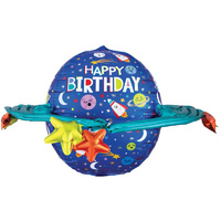 Happy Birthday Colourful Galaxy Space UltraShape Foil Balloon