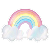 Magical Rainbow Iridescent Rainbow Shaped Paper Plates 8 Pack