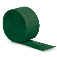 Festive Green Crepe Paper Streamer Party Decoration