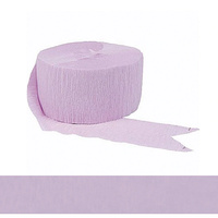 Lavender Crepe Paper Streamer Party Decoration