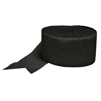 Black Crepe Paper Streamer Party Decoration
