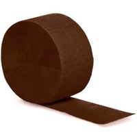 Brown Crepe Paper Streamer Party Decoration
