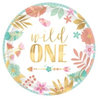 Boho Birthday Girl Wild One 1st Birthday Cake Lunch Dessert Plates 8 Pack