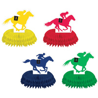 Melbourne Cup Derby Day Horse Racing Mini Honeycomb Centrepieces 4 Pack