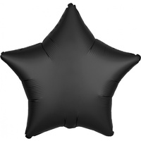 Black Onyx Satin Luxe Star Foil Balloon
