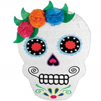 Halloween Sugar Skull Day of the Dead Shaped Pinata