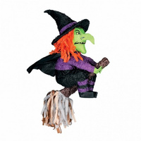 Halloween Witch & Broomstick Shaped Pinata