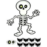 Halloween Pin-The-Smile On The Skeleton Game