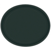 Jet Black Paper Plates Oval 30cm Approx - 20 Pack