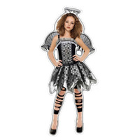 Halloween Costume Fallen Angel Girls 5-7 Years