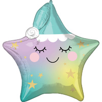 Baby Shower Sleepy Little Star Multi Shaped Foil Balloon