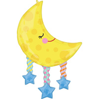 Moon and Stars SuperShape XL Foil Balloon