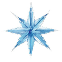Christmas Snowflakes Blue & Silver 3D Effect Hanging Decoration