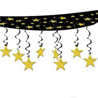 The Stars Are Out Black & Gold Ceiling Decor Hanging Decoration