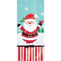 Jolly Santa Small Cello Loot Favour Treat Bags 20 Pack