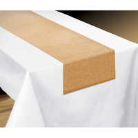Gold Luxury Table Runner Metallic Fabric