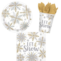 Christmas Snowflakes 8 Guest Party Pack