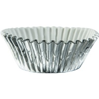 Cupcake Standard Cases Silver Foil 24 Pieces
