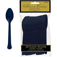 Amscan Navy Blue Party Supplies Spoons 20 Pack