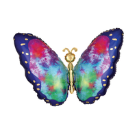 Tie-Dye Butterfly Supershape Foil Balloon