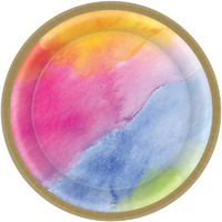 Rainbow Dream Colours Paper Lunch Plates 8 Pack