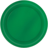 Festive Green Metallic Round Lunch Cake Dessert Plates 8 Pack