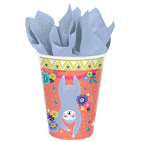 Sloth Party Paper Cups 8 Pack
