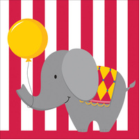 Circus Time Lunch Napkins 16 Pack