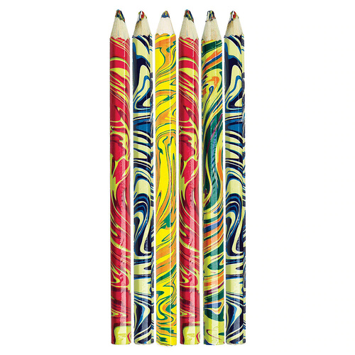 Multi Coloured Rainbow Pencils Party Loot Favour Gifts Pack of 8