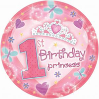 1st Birthday Princess Party Supplies